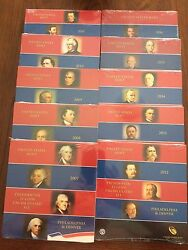 2007-2016 10-us Mint Presidential P And D Uncirculated 8-coin Dollar Sets