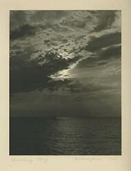 Vintage Black White Photograph Clouds Water Crowning Glory Artist Signed Print