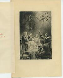 Antique Toast A Health To King Charles Candles Chandelier Men Woman Cup Print