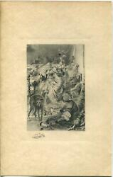 Antique Renaissance Party Middle Ages Wine Toast Greyhound Dog Buffet Food Print