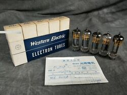 Western Electric 412a 5-piece Set Vacuum Tube In Excellent Working Condition
