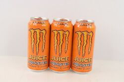 New Unopened Monster Khaos Energy Drink Juice 16 Oz Can Lot Of 3 Discontinued
