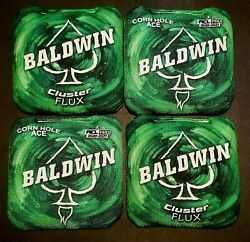 4- Cornhole Ace Cluster Flux Acl Pro Approved Cornhole Bags Baldwin Pre-owned