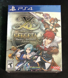 Ys Memories Of Celceta Timeless Adventurer Edition Sony Ps4 New Sealed