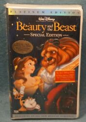 2002 Beauty And The Beast Walt Disney Special Platinum Edition Vhs New Sealed