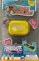 World#x27;s Coolest Fingerlings Keychain. Yellow. SEALED