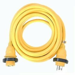 Amp Up Marine And Rv Cords 125v 30 Amp X 25' Yellow Shore Power Boat Extension ...