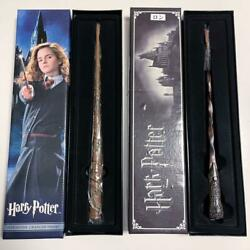 Harry Potter Glowing Wand Hermione Ron Set Of