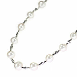 K18wg White Butterfly Pearl/pearl Necklace Width Approx. 10.4-12.7mm - Auth Selb