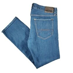 Express Mens Rocco Slim Fit Blue Straight Leg Jeans Size 36x32