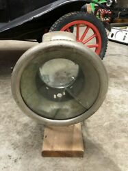Early Vintage Automobile Carbide Spot Search Head Lamp Light Car Fire Truck Old