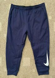 Mens Size 3xl Nike Therma Woven Training Pants Navy Blue 100 Polyester Athletic