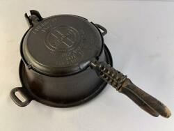 Griswold Erie Pa No. 8 Cast Iron Waffle Maker 885 E And 886 R With Base No. 8d