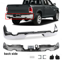 New Steel Rear Bumper Face Bar Chrome Fit For 2009-2018 Ram 1500 W/ Dual Exhaust