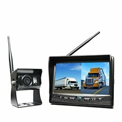 Rear View Safety Wireless Backup Camera System With Dual Screen Monitor And C...