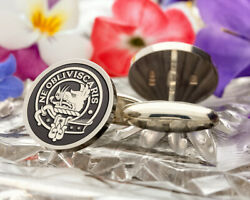 Campbell Scottish Clan Sterling 925 Silver Cufflinks - Hand Made In The Uk
