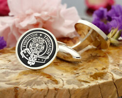 Hamilton Scottish Clan Sterling 925 Silver Cufflinks - Hand Made In The Uk