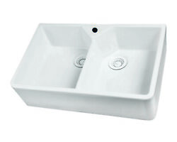Barclay Fs31 31 Double Bowl Fireclay Apron Front Farmhouse Kitchen Sink
