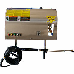 Electric Wall-mount Cold Water Pressure Washer- 3000 Psi 4.0 Gpm 208 Volts