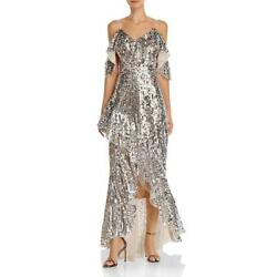 Laundry by Shelli Segal Womens Mesh Sequined Formal Evening Dress Gown BHFO 3970 $45.89
