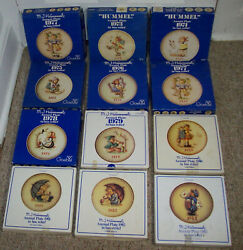 Lot Of 11 Goebel Hummel Annual Collector Plates 1970s To 1980s
