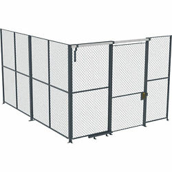 Husky Rack And Wire Ez Wire 15ftlx15ftwx10fth 2-sided Cage- 4ft Slide Door