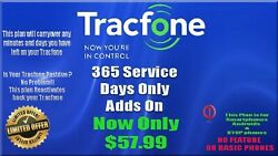 Tracfone 1 Year / Tracfone 365 Service Days / Please Leave Your Tracfone Number