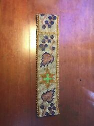 Antique Native American Potawatomi Plains Indians Beaded Hat Or Head Band