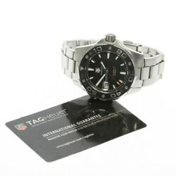 Tag Heuer Aquaracer Caliber 5 Menand039s Watch Dial Color Black W/warranty Card