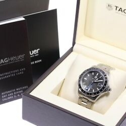 Tag Heuer Aquaracer 500m Menand039s Watch Automatic Winding Dial Color Black W/box