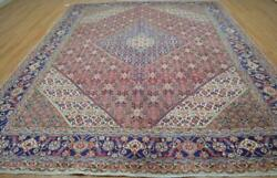 9'8 X 12'5 Majestic Vintage Semi Antique Mood Hand Knotted Wool Area Rug 10 X 12