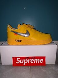Nike Air Force 1 Low X Off-white University Gold - Dd1876-700 Size 10.5m/12w