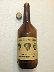 3 Three Stooges Old Homicide Distilled Yesterday Novelty Whiskey Whisky Bottle