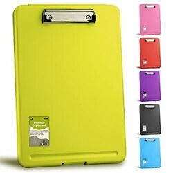 Clipboard Clipboards With Letter Size Compartments Storage Case For 18 Green