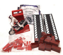 Classic Retro Evil Knievel Deluxe 2005 Toy Figure And Bike Playset, Near Complete