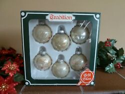Vintage Collectible Christmas Glass Ornaments X 6 - C1980s West Germany Prop