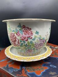 A Nice Antique Chinese Famille Rose Plater Andplate