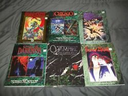 Lot Of 6 Vampire The Masquerade Rpg Sourcebooks - White Wolf Roleplaying Books