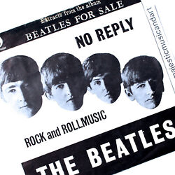 Rare Floating Heads Cover 1965 The Beatles No Reply 7 Vinyl Holland Very Rare