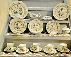 """36 Pieces Of Vintage """"imari Bouquet"""" Heritage By Mikasa Made In Japan Dinnerware"""