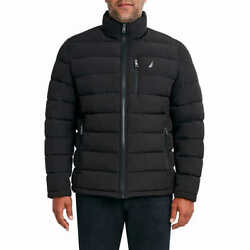 Nautica Menand039s Puffer Jacket - Black Select Size S-xxl Fast Shipping