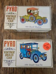 Lot Of 2sealed1967 Pyro Vintage Brass Model Car Kits1906 Renault Cars 4 And 12