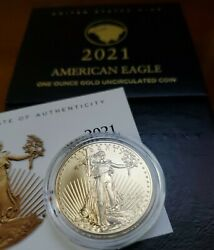 American Eagle 2021 One Ounce Gold Uncirculated 21ehn ✪ Confirmed Order ✪