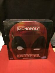 Marvels Deadpool Collectors Edition Monopoly Board Game New Sealed Hasbro Gaming