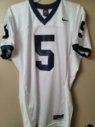 1717 Mens Nike Ncaa Penn State Nittany Lions Psu 5 Authentic Game Jersey White