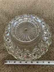 Ceiling Light Shade Clear Heavy Cut Glass Lamp Globe Vintage Pressed