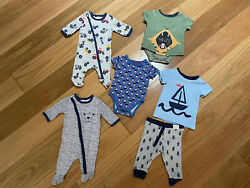 Sprout Bodysuit Pants Tops Baby Bundle Tractor Sail Boats Tiger 0000 000 00 Boy