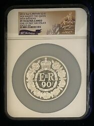 2016 Great Britain 5 Oz. Silver Her Majesty The Queen 90th Birthday Pf70