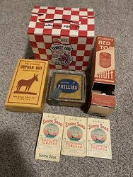 Vintage Tobcco Store Displays And Boxes From Collection