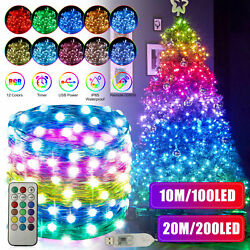 100/200 Led Christmas Party String Lights Wedding Xmas Decor Outdoor Indoor Lamp